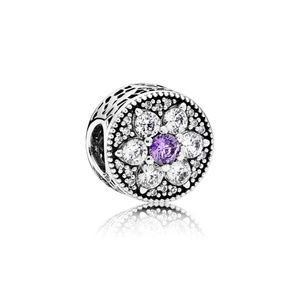 RETIRED Authentic Pandora Forget Me Not CZ Charm